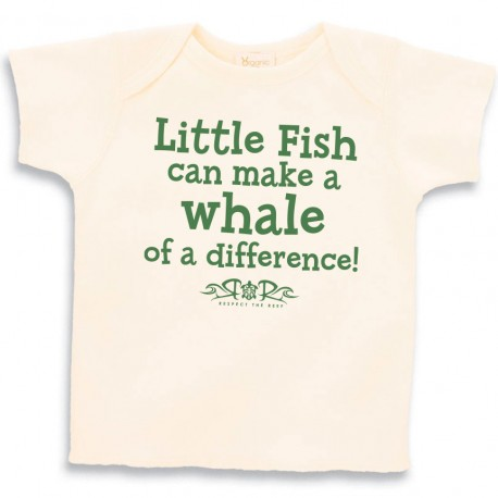 Little Fish can make a whale of a difference Baby lap tee